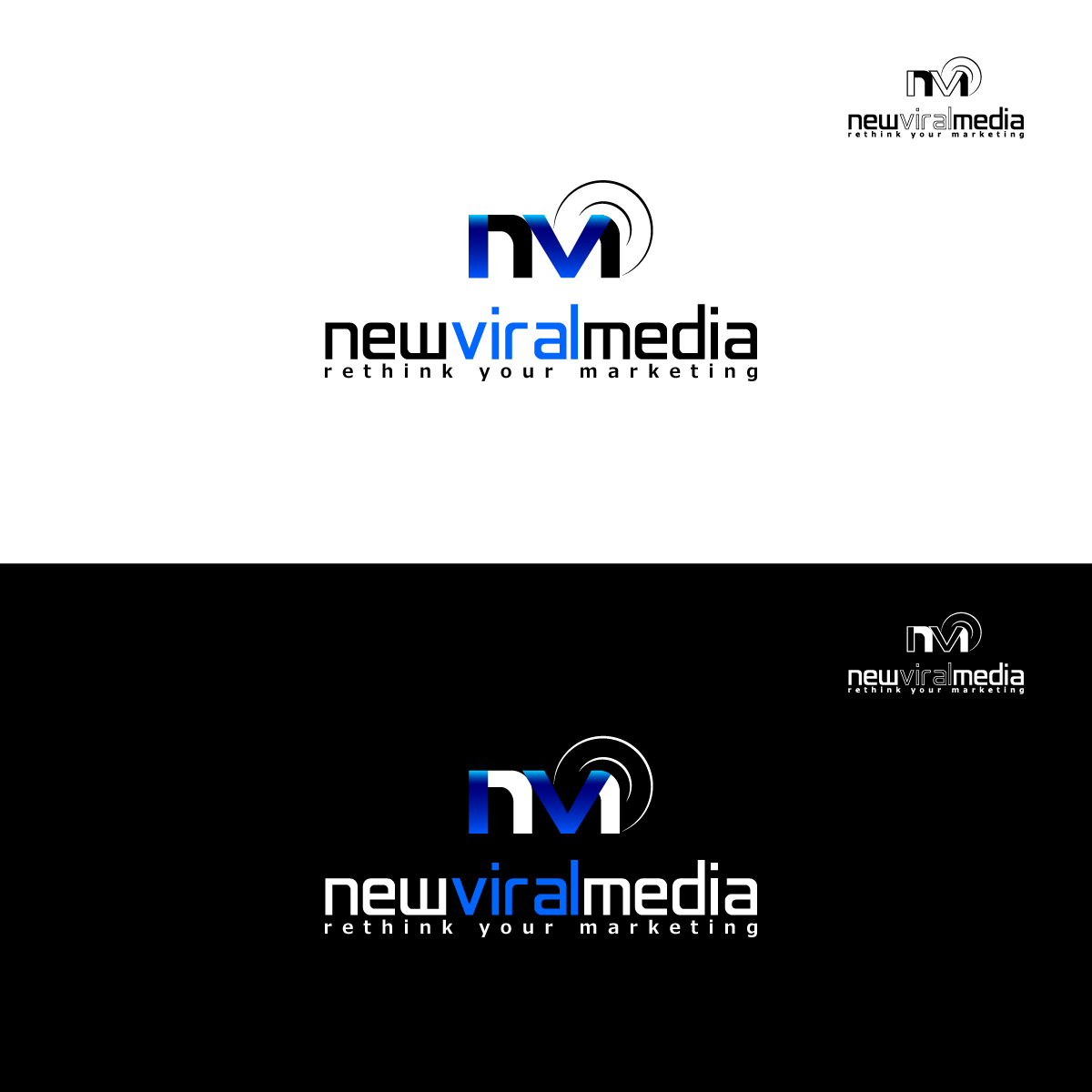 Logo Design by zesthar - Entry No. 60 in the Logo Design Contest New Viral Media Logo.