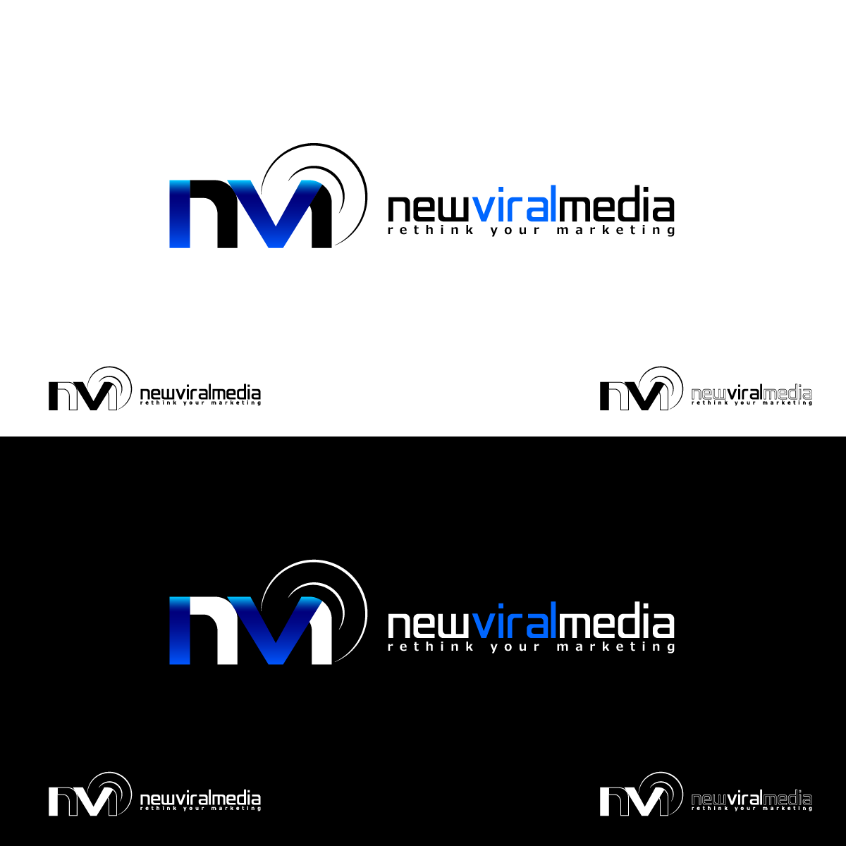 Logo Design by zesthar - Entry No. 61 in the Logo Design Contest New Viral Media Logo.
