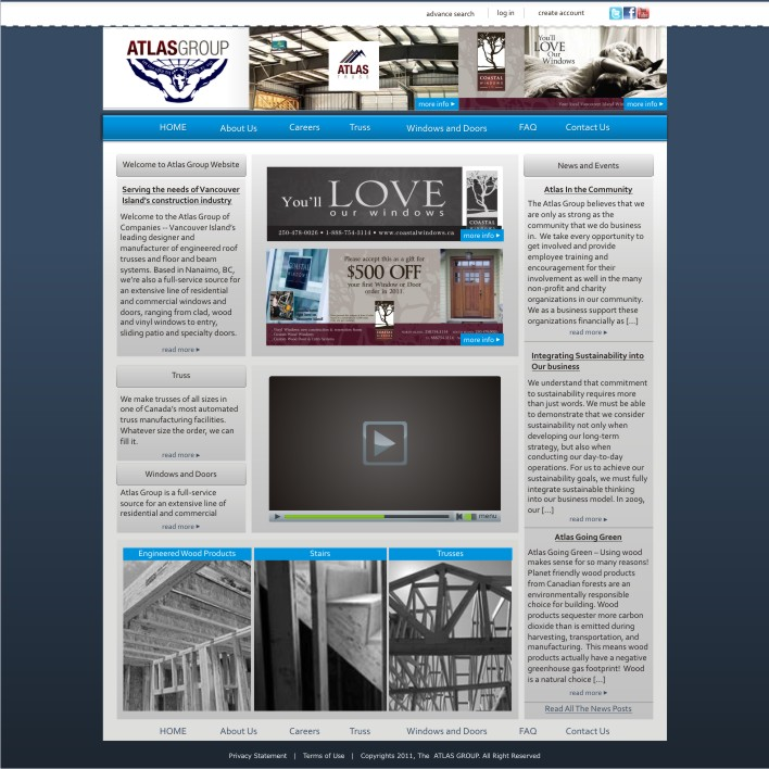 Web Page Design by ben35dan - Entry No. 13 in the Web Page Design Contest The Atlas Group Website.