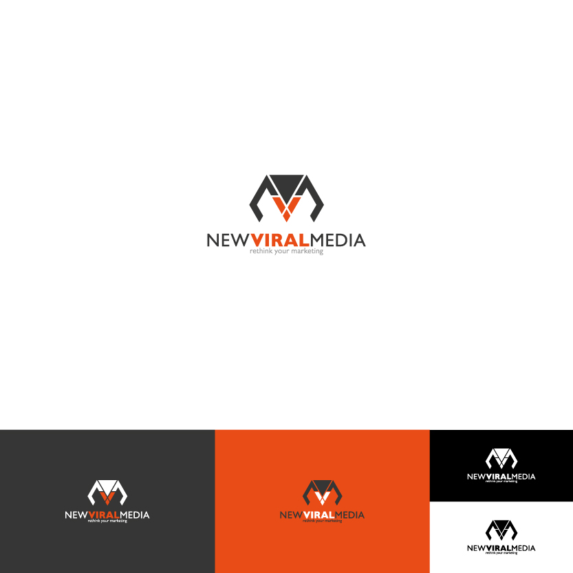 Logo Design by Alpar David - Entry No. 65 in the Logo Design Contest New Viral Media Logo.