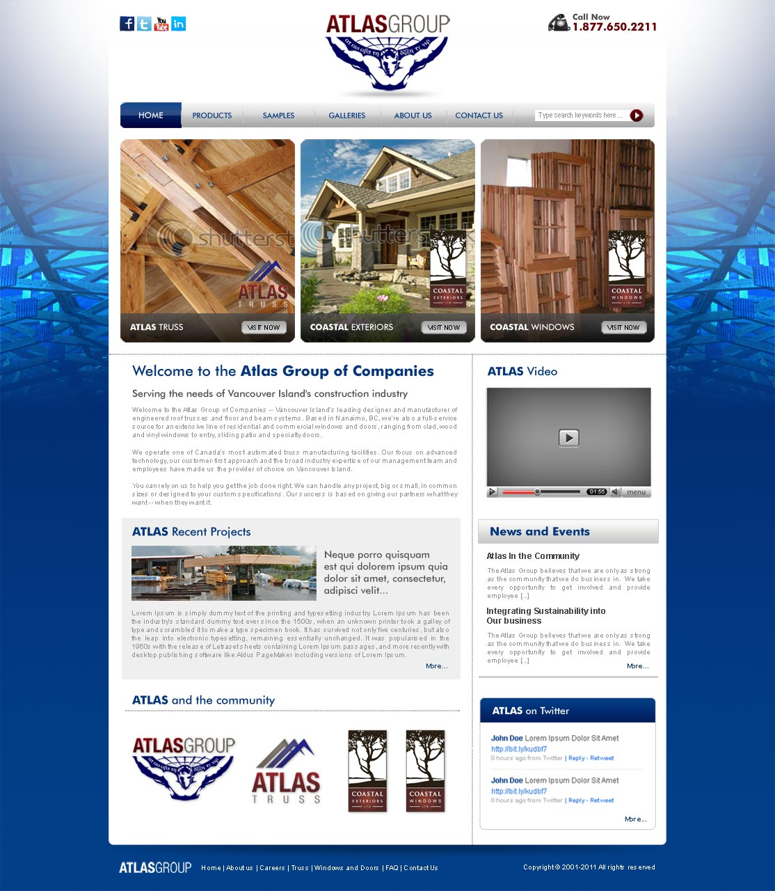 Web Page Design by ArsalanHanif - Entry No. 14 in the Web Page Design Contest The Atlas Group Website.