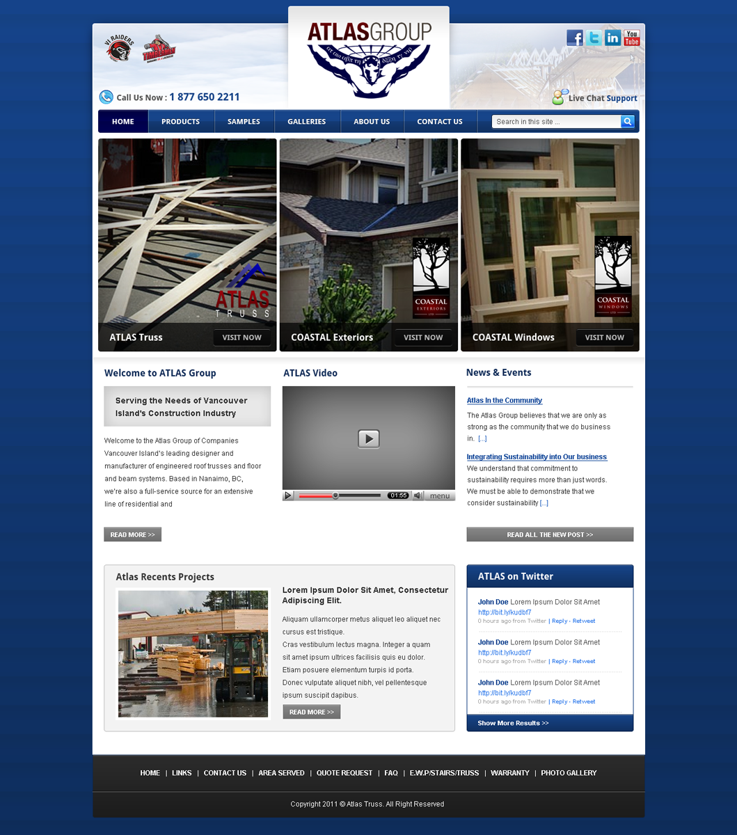 Web Page Design by Andrean Susanto - Entry No. 16 in the Web Page Design Contest The Atlas Group Website.