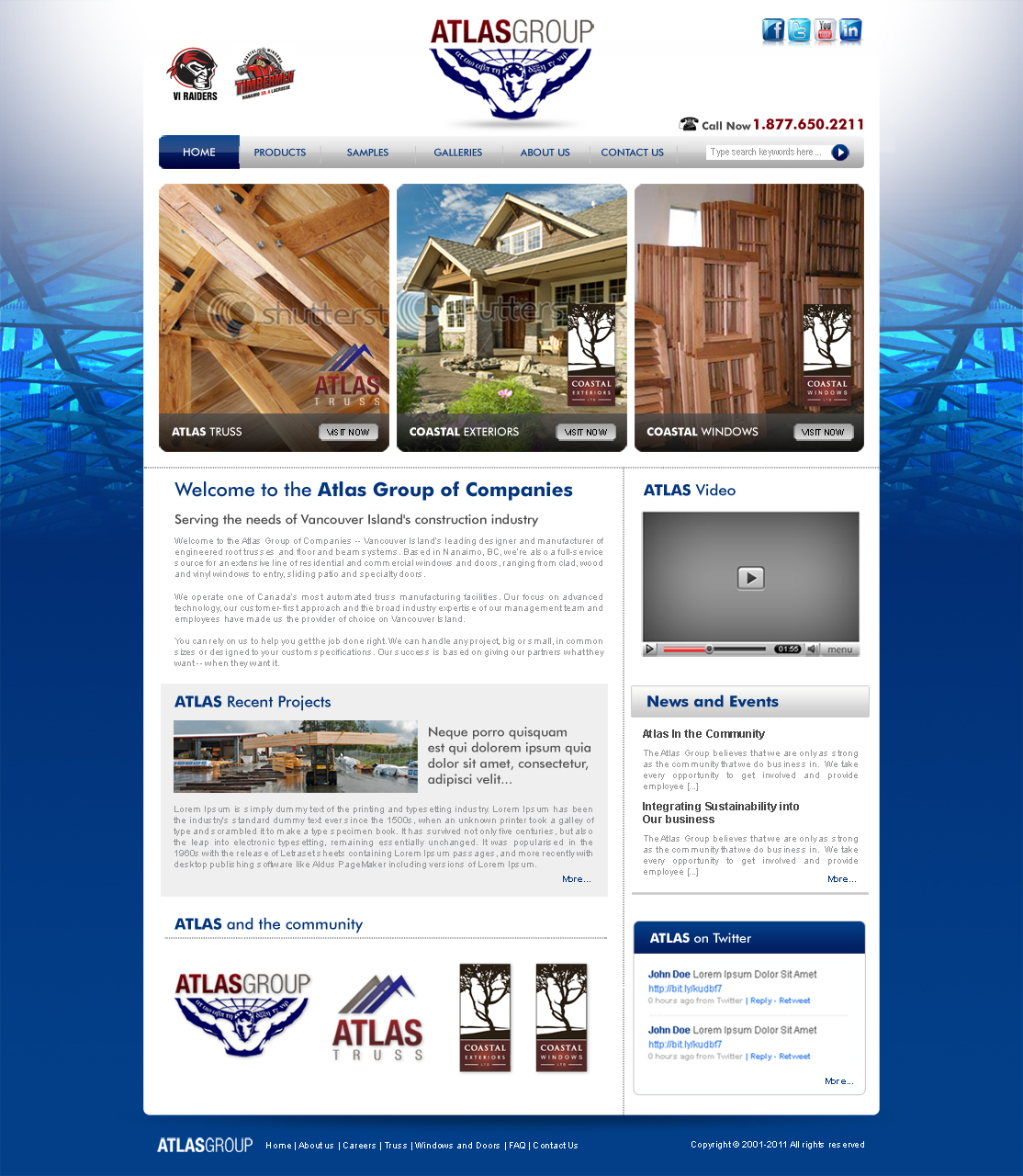Web Page Design by ArsalanHanif - Entry No. 17 in the Web Page Design Contest The Atlas Group Website.