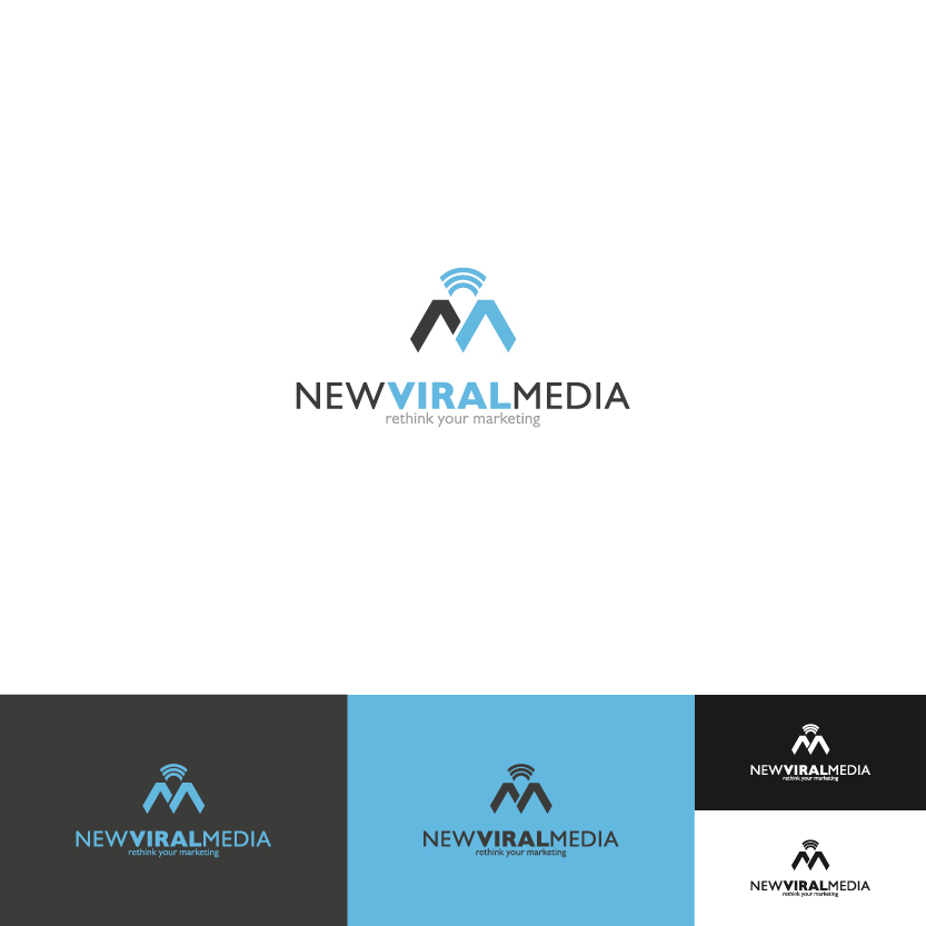Logo Design by Alpar David - Entry No. 69 in the Logo Design Contest New Viral Media Logo.