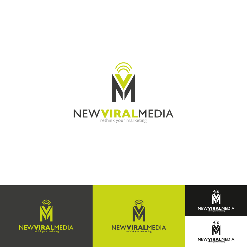 Logo Design by Alpar David - Entry No. 70 in the Logo Design Contest New Viral Media Logo.