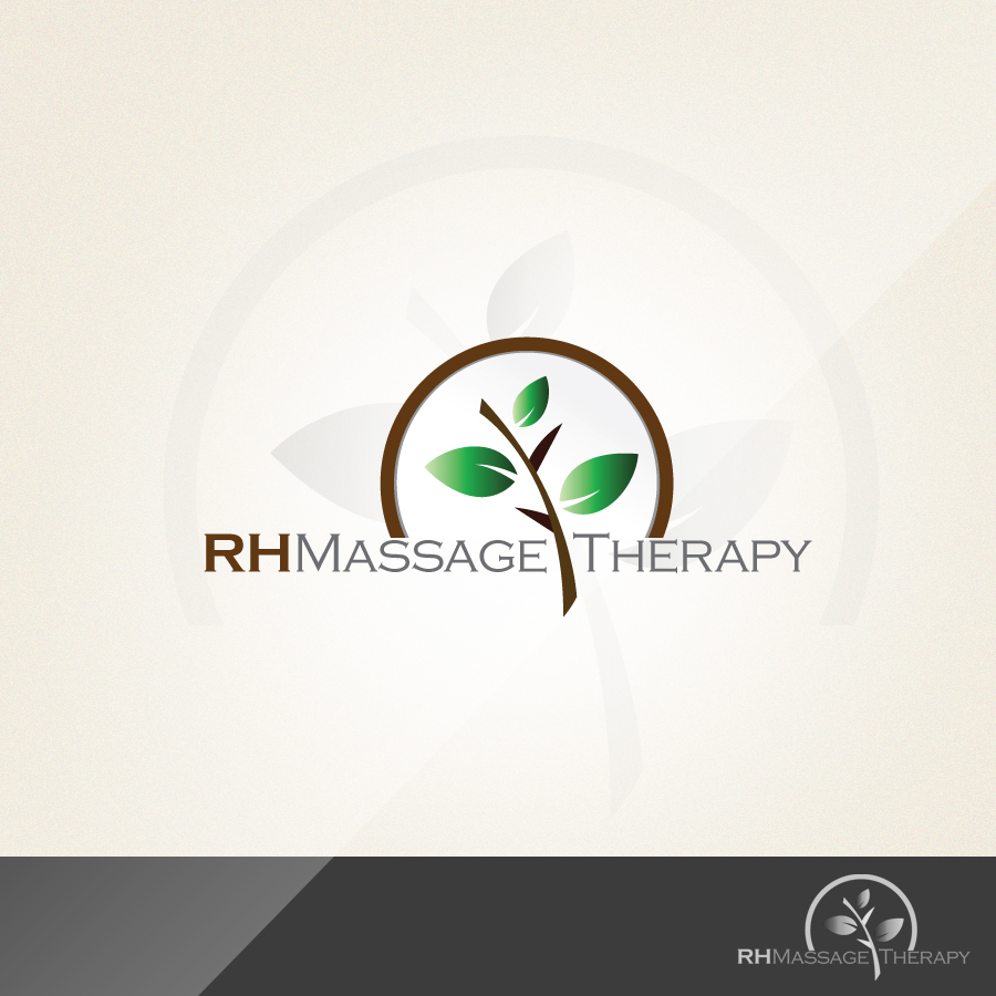 Logo Design by rockpinoy - Entry No. 37 in the Logo Design Contest Logo for new massage therapy clinic named RH Massage Therapy.