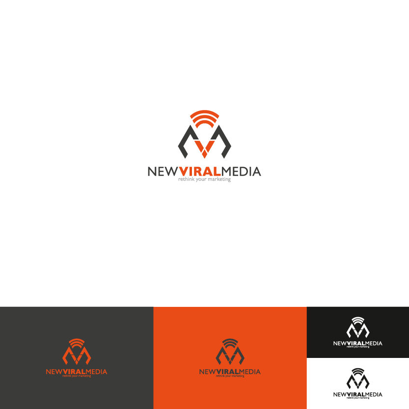 Logo Design by Alpar David - Entry No. 71 in the Logo Design Contest New Viral Media Logo.