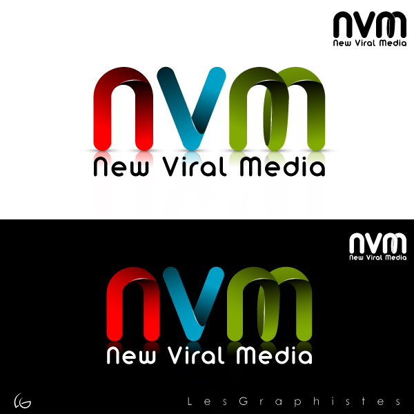 Logo Design by Les-Graphistes - Entry No. 72 in the Logo Design Contest New Viral Media Logo.