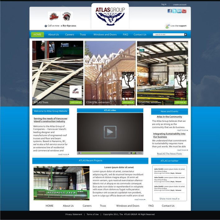 Web Page Design by ben35dan - Entry No. 22 in the Web Page Design Contest The Atlas Group Website.