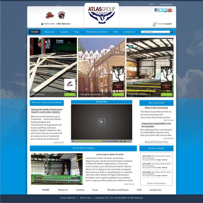 Web Page Design by ben35dan - Entry No. 23 in the Web Page Design Contest The Atlas Group Website.