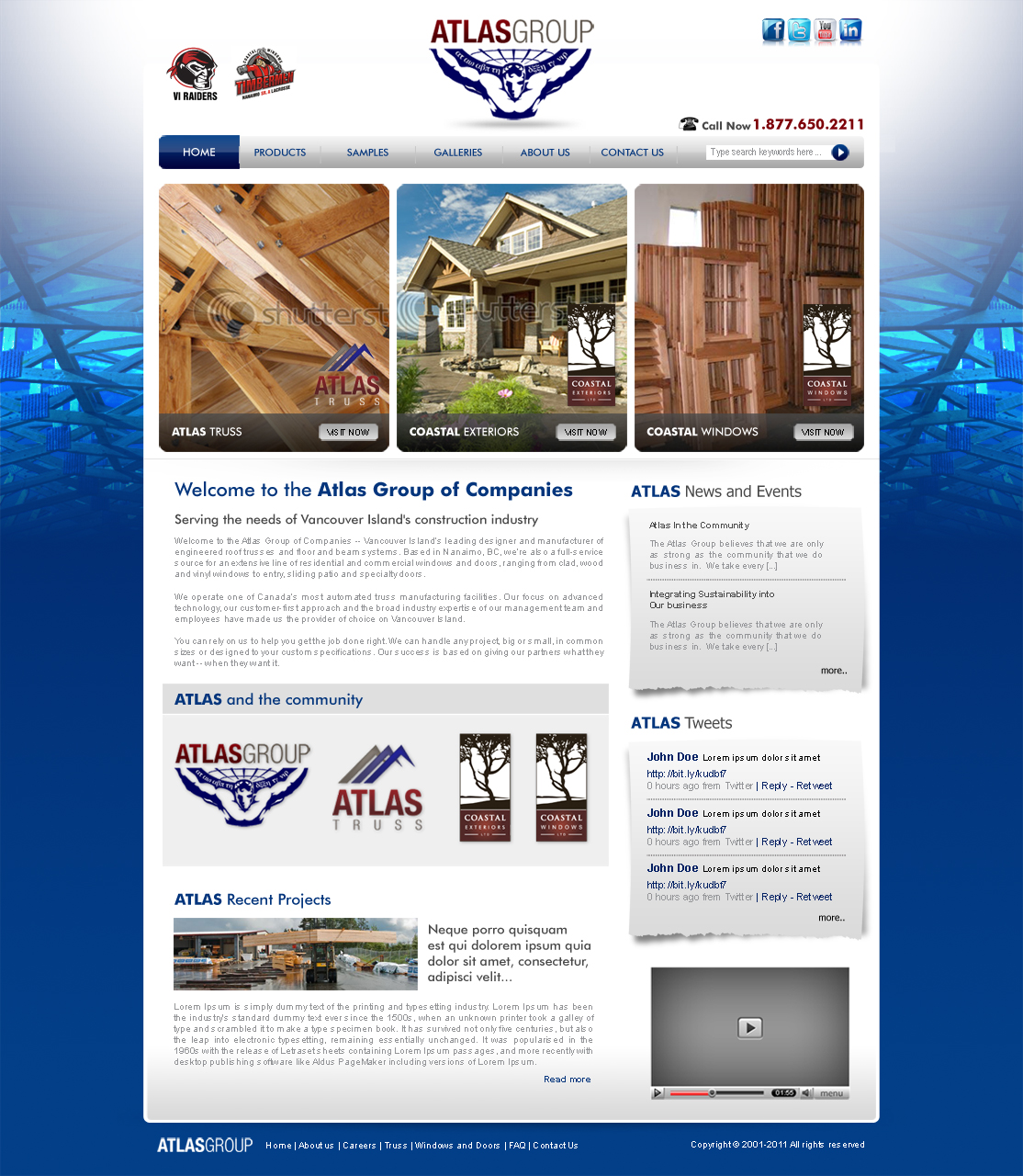Web Page Design by ArsalanHanif - Entry No. 35 in the Web Page Design Contest The Atlas Group Website.
