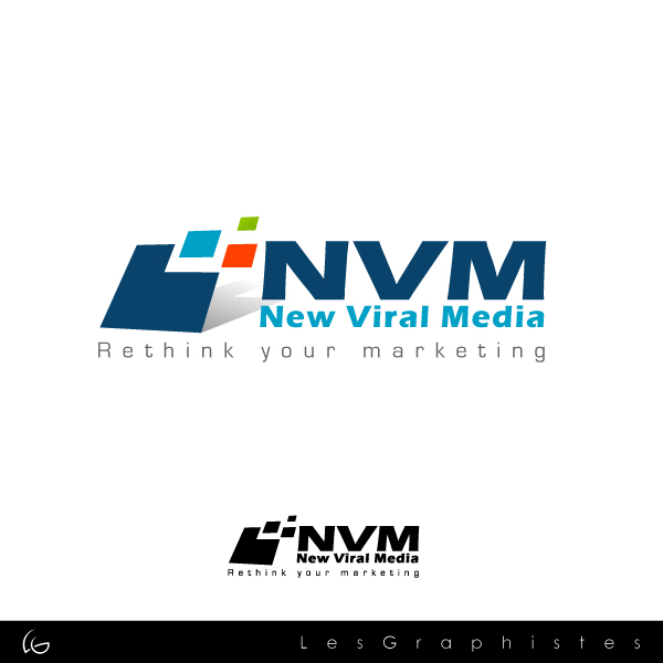 Logo Design by Les-Graphistes - Entry No. 91 in the Logo Design Contest New Viral Media Logo.
