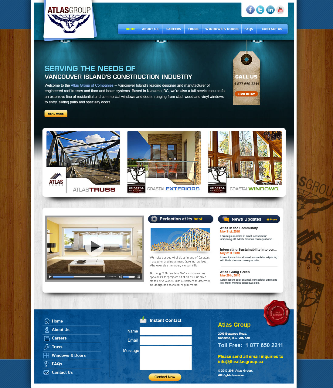 Web Page Design by Farhan Zafar - Entry No. 37 in the Web Page Design Contest The Atlas Group Website.