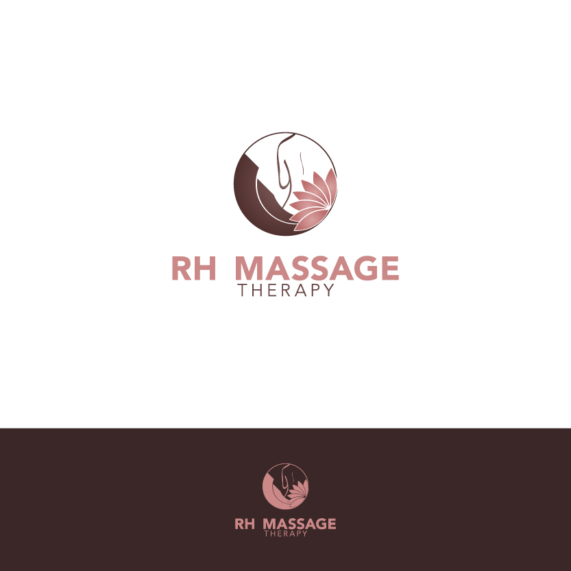 Logo Design by Alpar David - Entry No. 49 in the Logo Design Contest Logo for new massage therapy clinic named RH Massage Therapy.