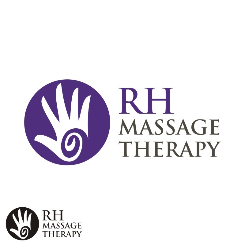 Logo Design by Private User - Entry No. 54 in the Logo Design Contest Logo for new massage therapy clinic named RH Massage Therapy.