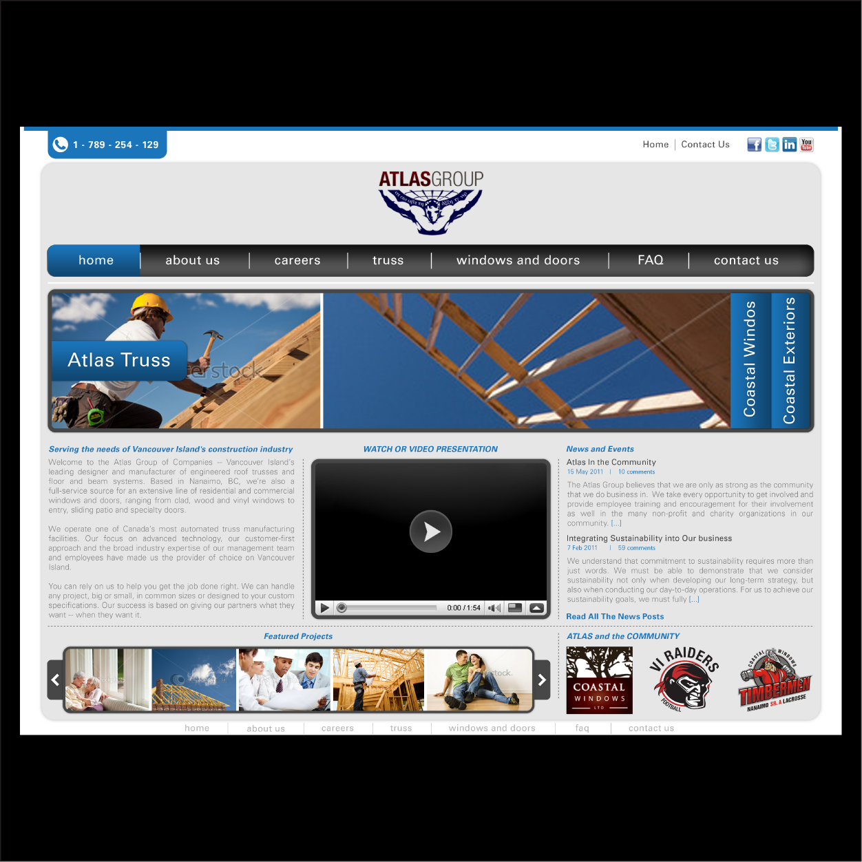 Web Page Design by Alpar David - Entry No. 39 in the Web Page Design Contest The Atlas Group Website.
