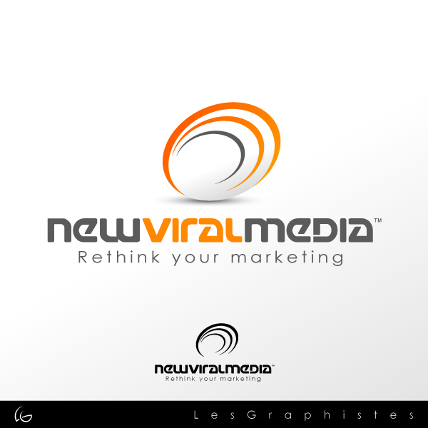 Logo Design by Les-Graphistes - Entry No. 120 in the Logo Design Contest New Viral Media Logo.