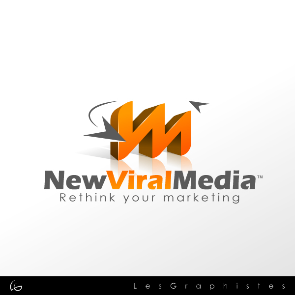 Logo Design by Les-Graphistes - Entry No. 124 in the Logo Design Contest New Viral Media Logo.