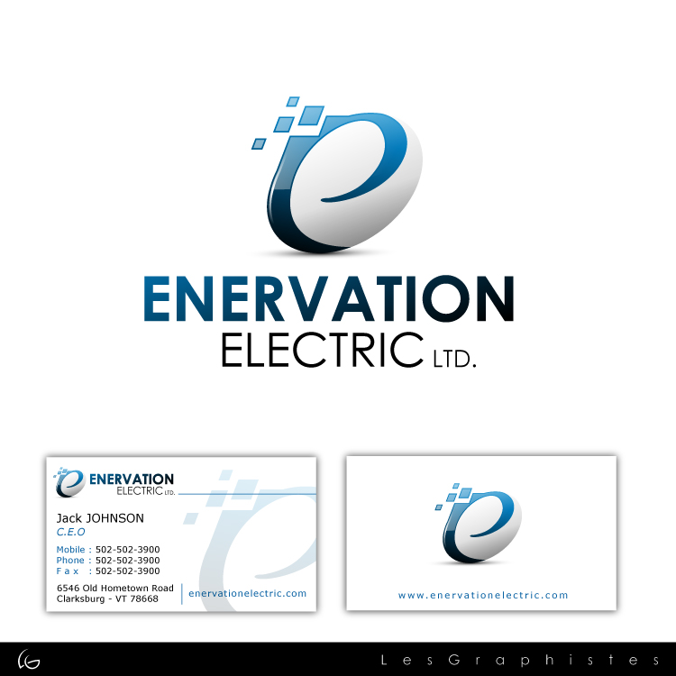 Business Card Design by Les-Graphistes - Entry No. 1 in the Business Card Design Contest Enervation Logo Design.