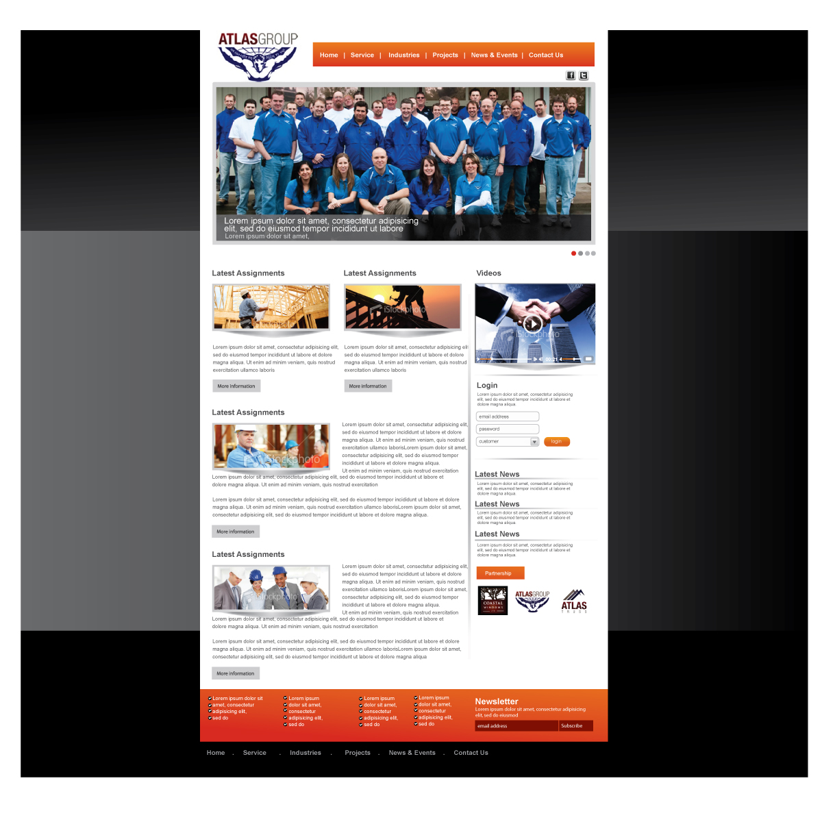 Web Page Design by kreativeFingers - Entry No. 40 in the Web Page Design Contest The Atlas Group Website.