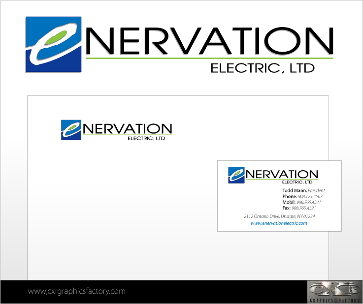 Business Card Design by Bobbyfonts - Entry No. 11 in the Business Card Design Contest Enervation Logo Design.