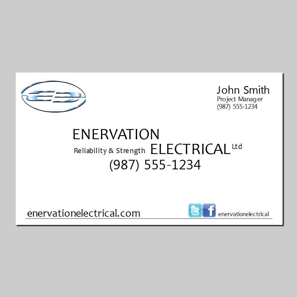 Business Card Design by Brian Moelker - Entry No. 16 in the Business Card Design Contest Enervation Logo Design.