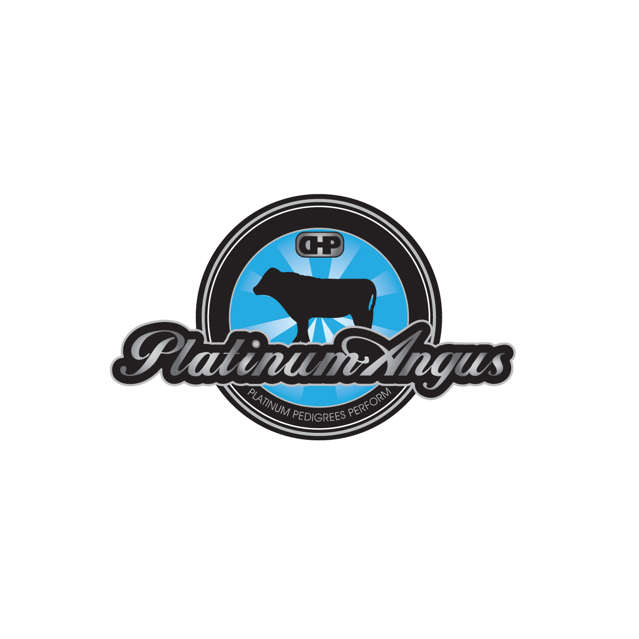 Logo Design by Private User - Entry No. 80 in the Logo Design Contest Platinum Angus Cattle.