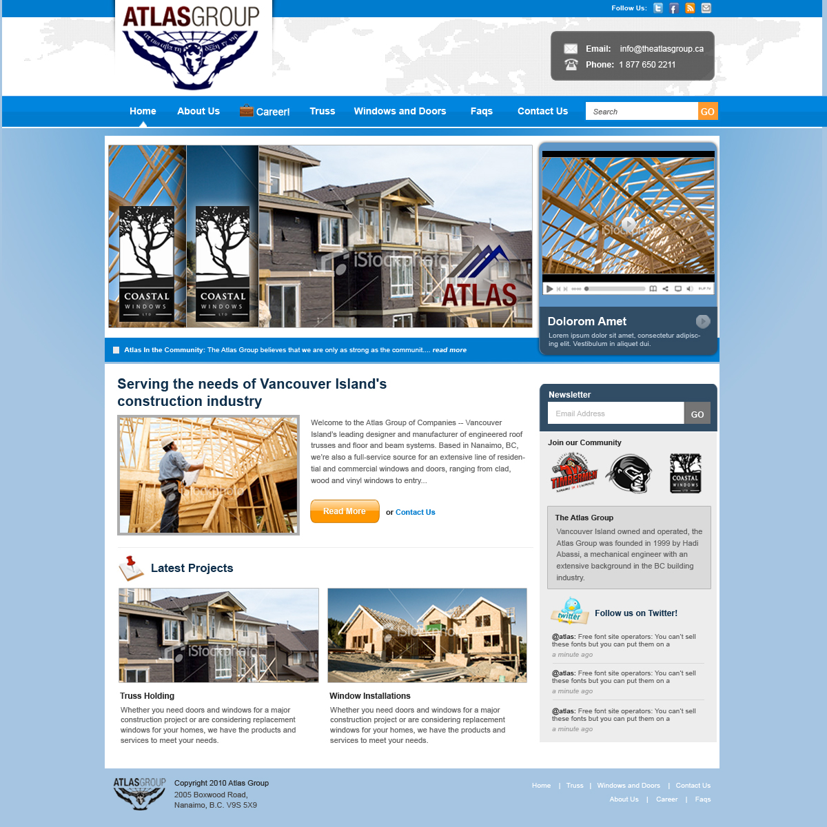 Web Page Design by rockpinoy - Entry No. 42 in the Web Page Design Contest The Atlas Group Website.