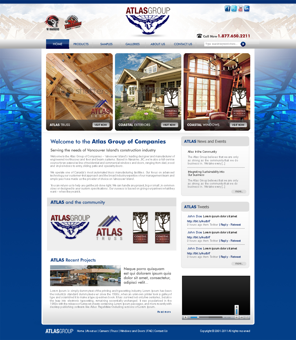 Web Page Design by ArsalanHanif - Entry No. 43 in the Web Page Design Contest The Atlas Group Website.