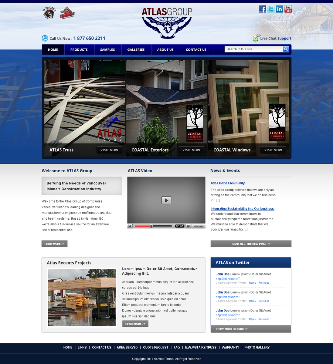 Web Page Design by Andrean Susanto - Entry No. 44 in the Web Page Design Contest The Atlas Group Website.