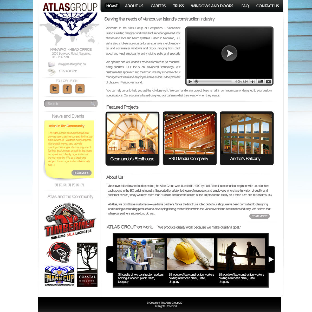 Web Page Design by blackvirus31 - Entry No. 46 in the Web Page Design Contest The Atlas Group Website.