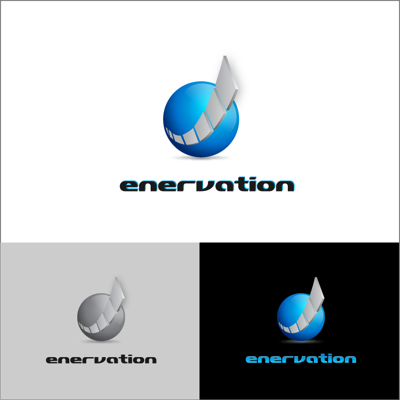 Business Card Design by trav - Entry No. 53 in the Business Card Design Contest Enervation Logo Design.