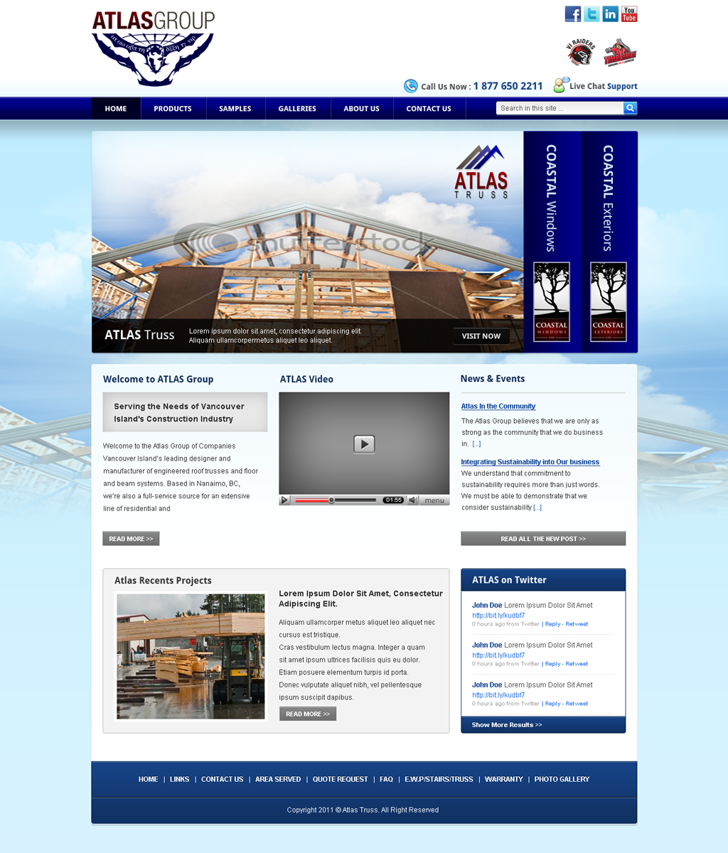 Web Page Design by Andrean Susanto - Entry No. 51 in the Web Page Design Contest The Atlas Group Website.