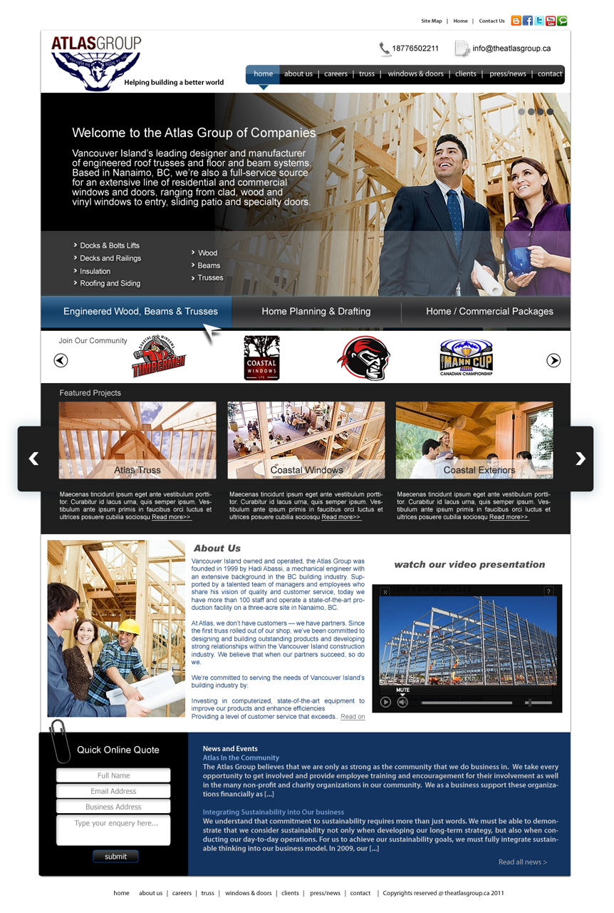 Web Page Design by Private User - Entry No. 52 in the Web Page Design Contest The Atlas Group Website.