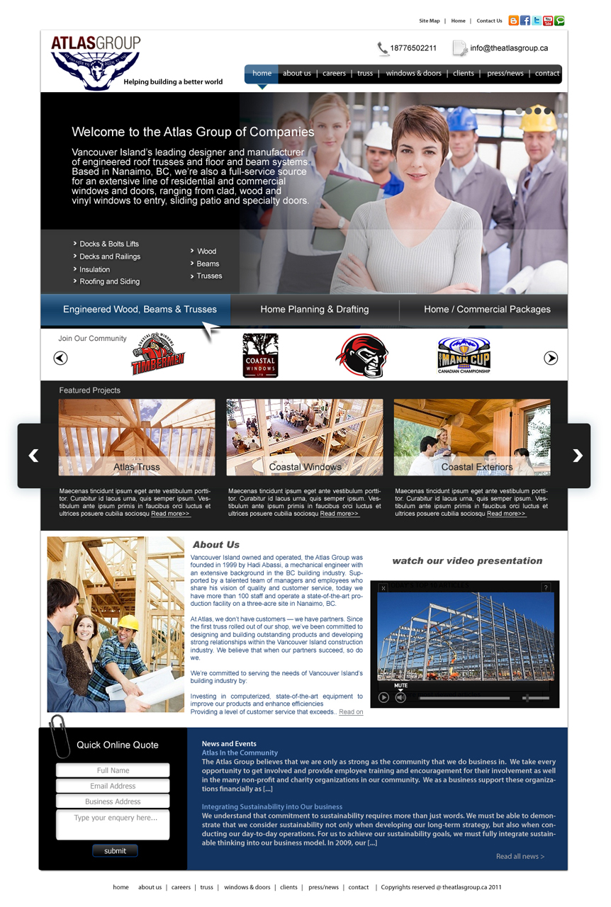 Web Page Design by Private User - Entry No. 53 in the Web Page Design Contest The Atlas Group Website.
