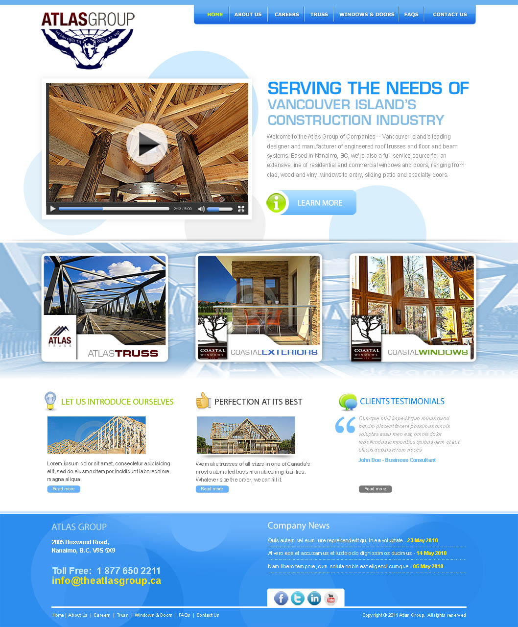 Web Page Design by Farhan Zafar - Entry No. 57 in the Web Page Design Contest The Atlas Group Website.