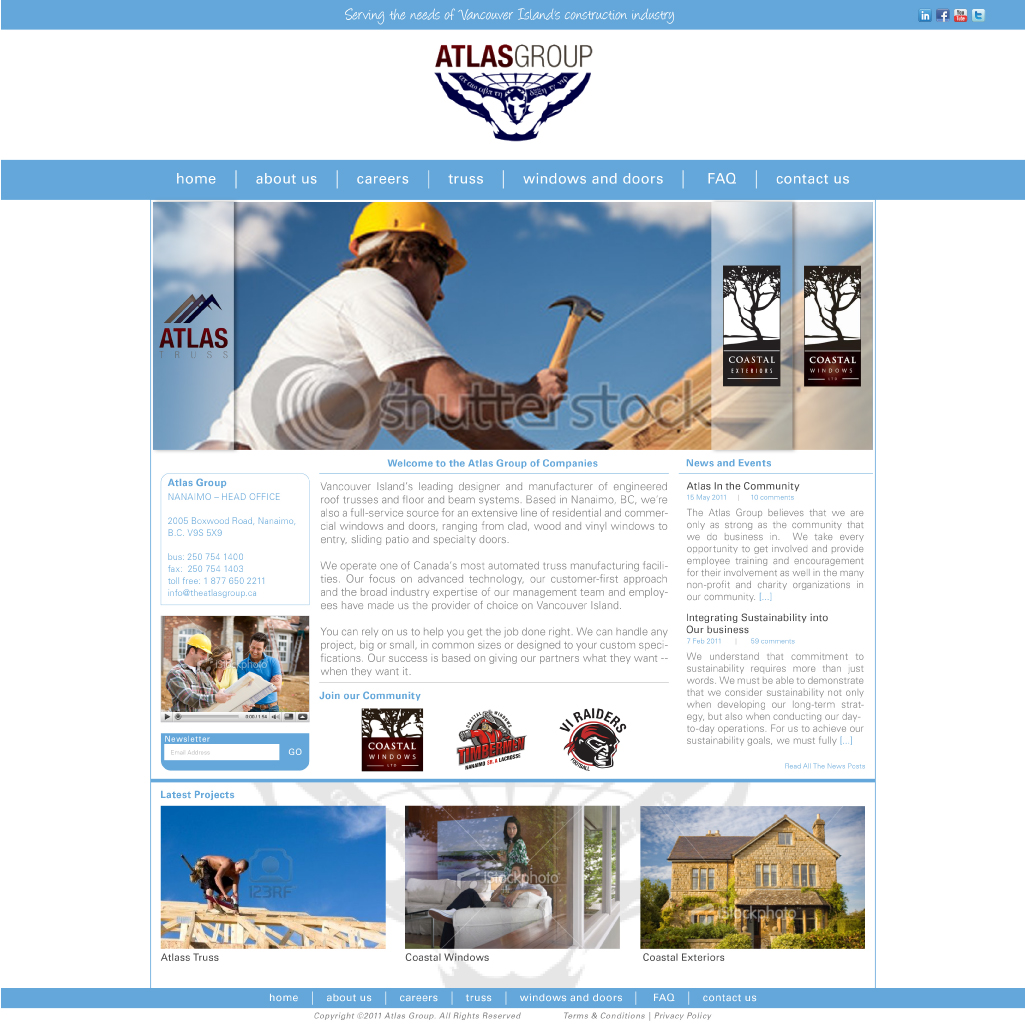 Web Page Design by Alpar David - Entry No. 60 in the Web Page Design Contest The Atlas Group Website.