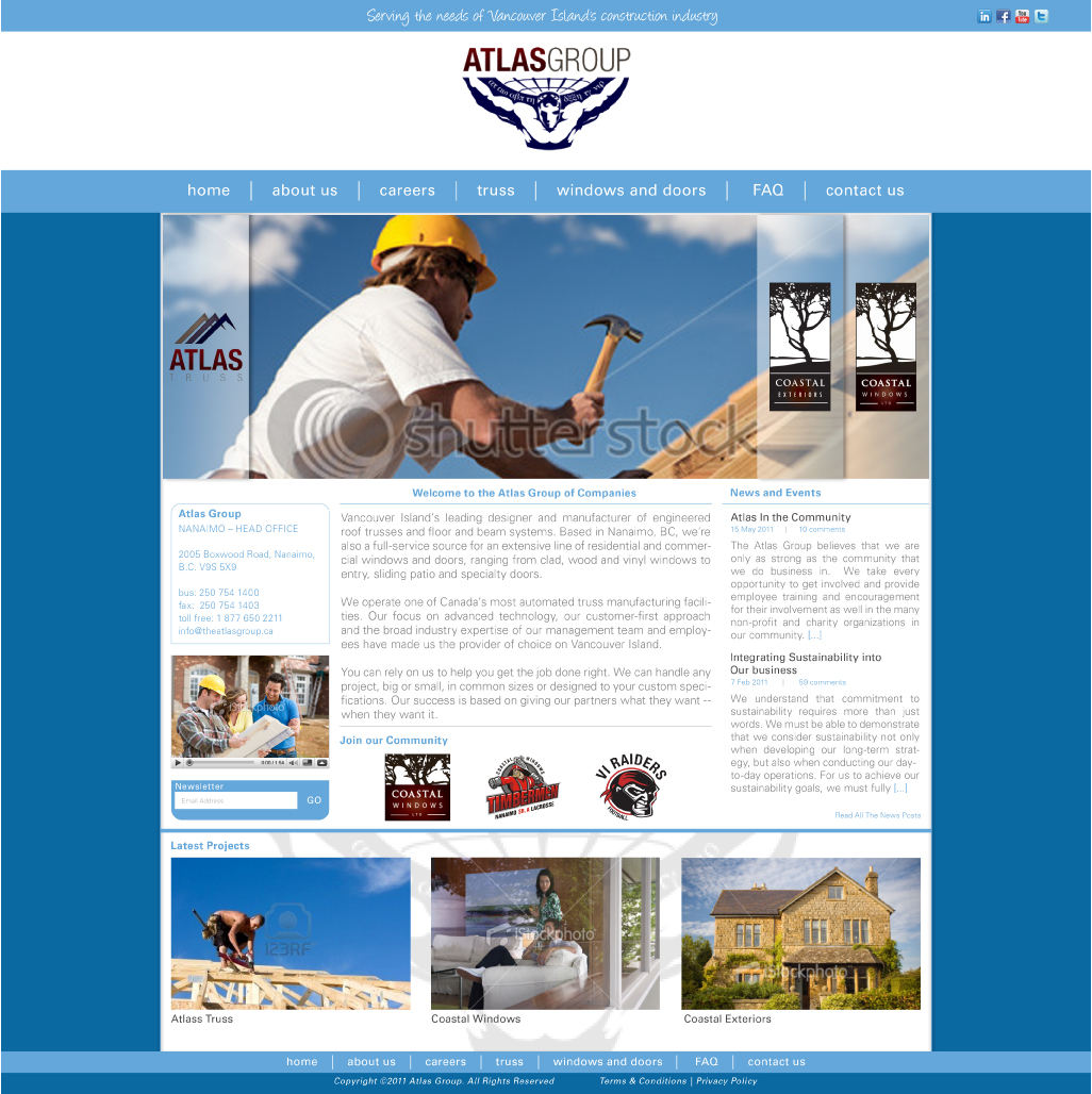 Web Page Design by Alpar David - Entry No. 61 in the Web Page Design Contest The Atlas Group Website.
