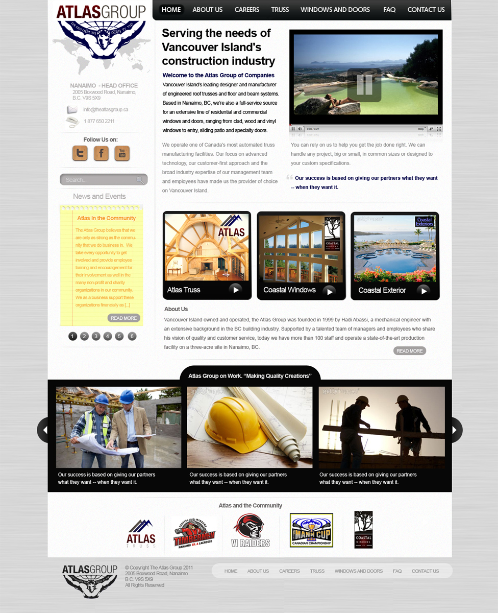 Web Page Design by blackvirus31 - Entry No. 62 in the Web Page Design Contest The Atlas Group Website.