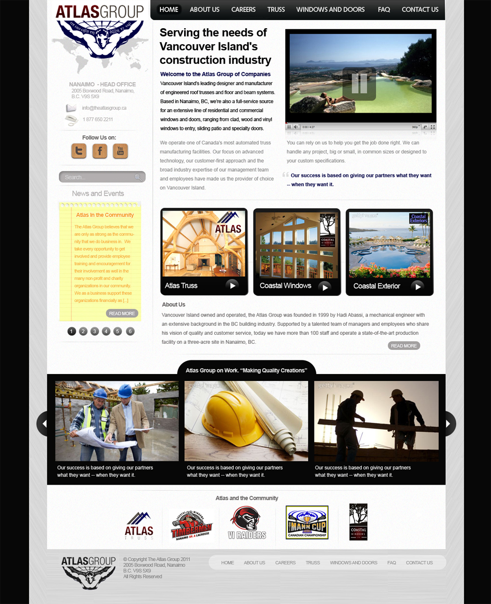 Web Page Design by blackvirus31 - Entry No. 64 in the Web Page Design Contest The Atlas Group Website.