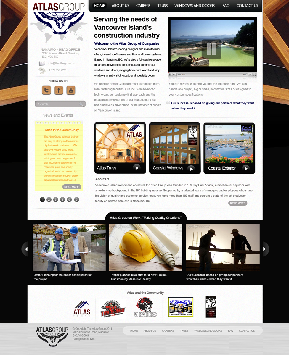 Web Page Design by blackvirus31 - Entry No. 66 in the Web Page Design Contest The Atlas Group Website.
