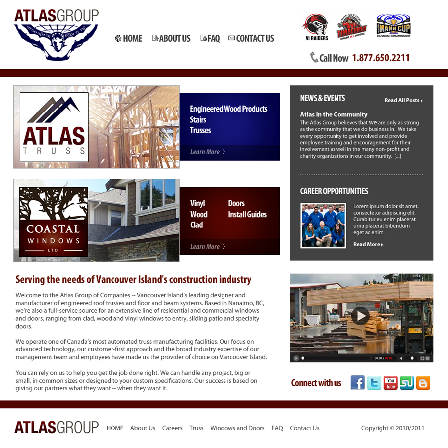 Web Page Design by Private User - Entry No. 68 in the Web Page Design Contest The Atlas Group Website.