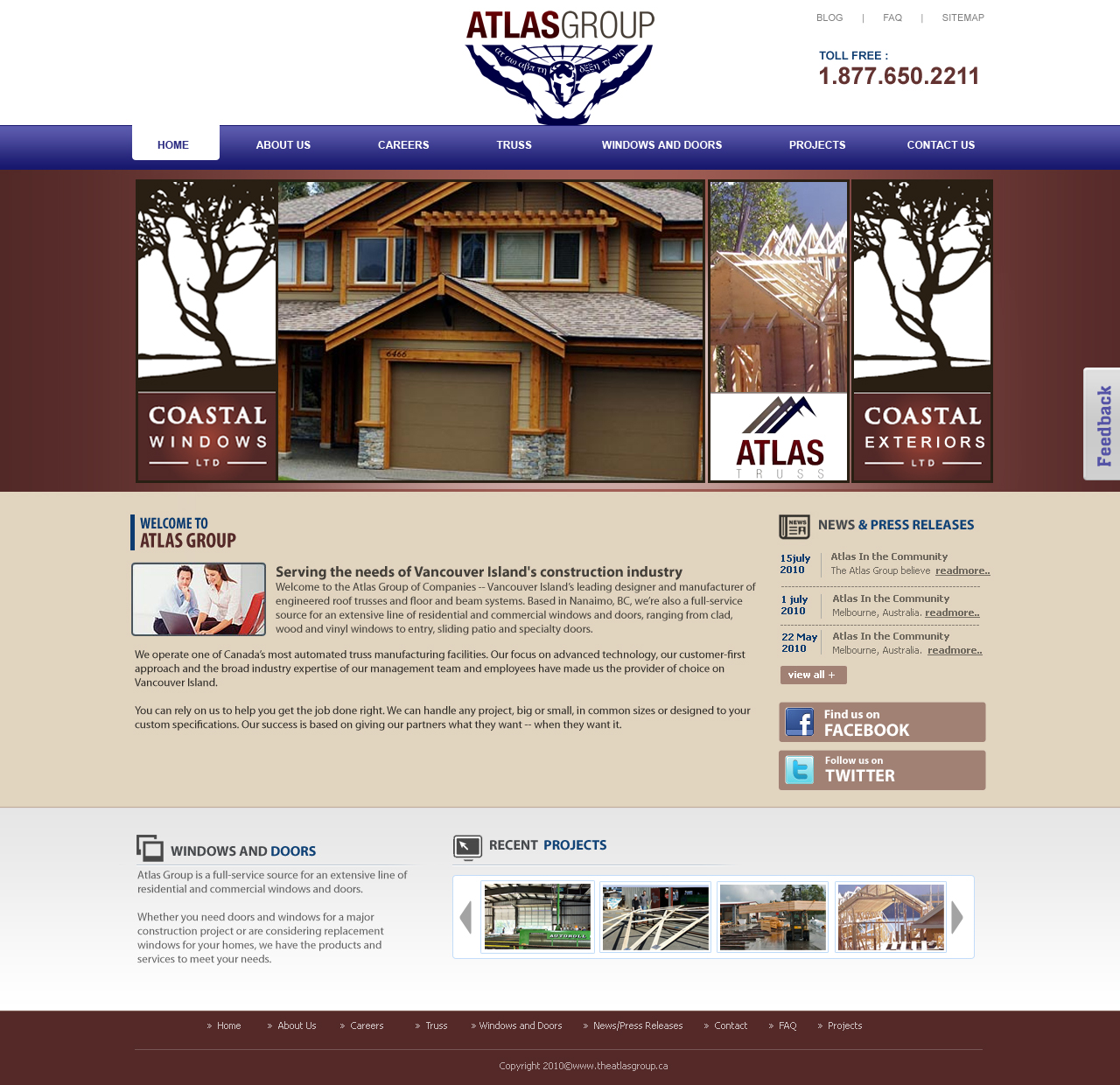 Web Page Design by designspixel - Entry No. 69 in the Web Page Design Contest The Atlas Group Website.