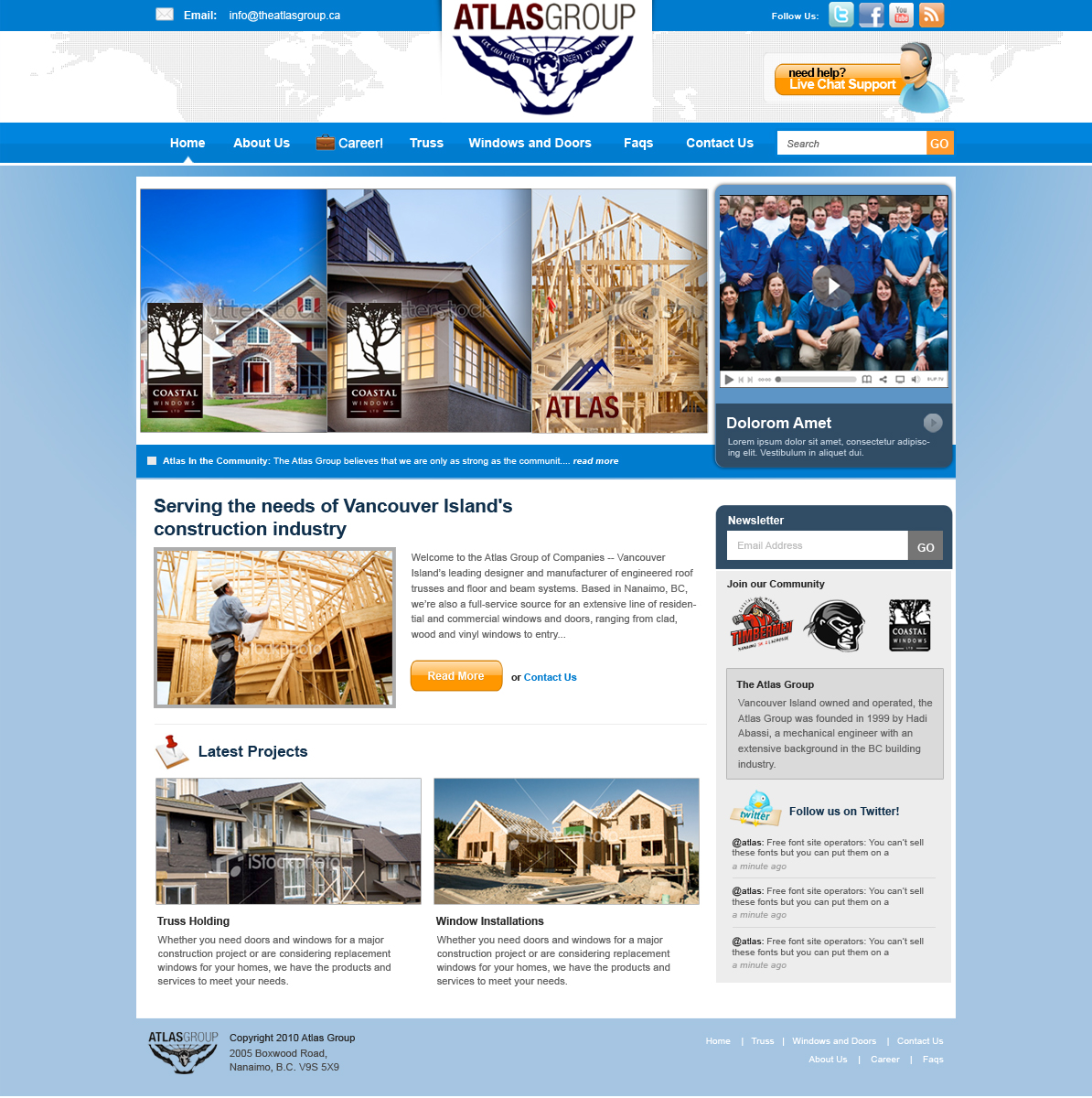 Web Page Design by rockpinoy - Entry No. 70 in the Web Page Design Contest The Atlas Group Website.