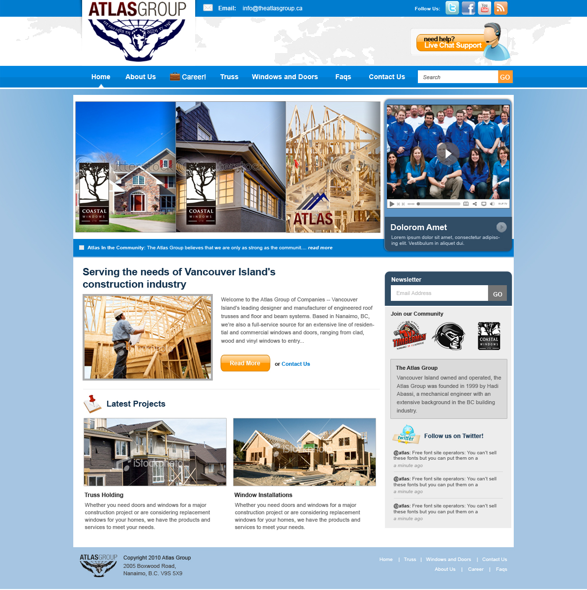 Web Page Design by rockpinoy - Entry No. 71 in the Web Page Design Contest The Atlas Group Website.