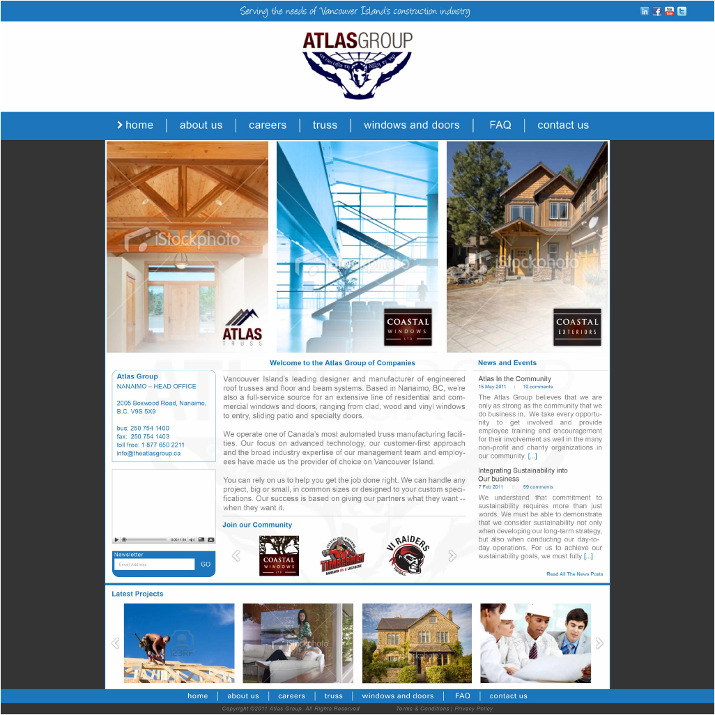 Web Page Design by Alpar David - Entry No. 72 in the Web Page Design Contest The Atlas Group Website.