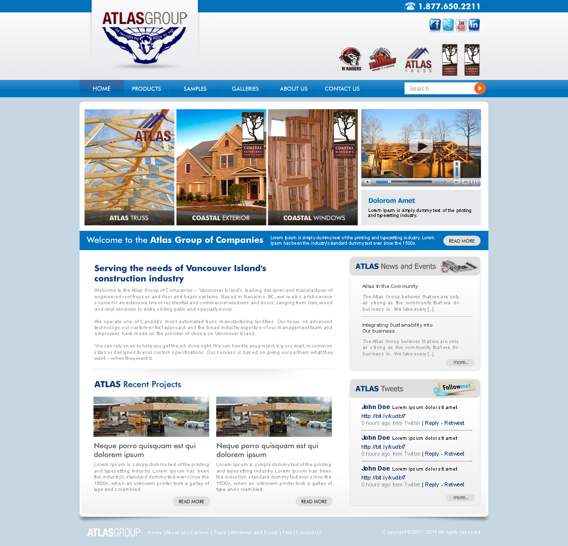 Web Page Design by ArsalanHanif - Entry No. 77 in the Web Page Design Contest The Atlas Group Website.