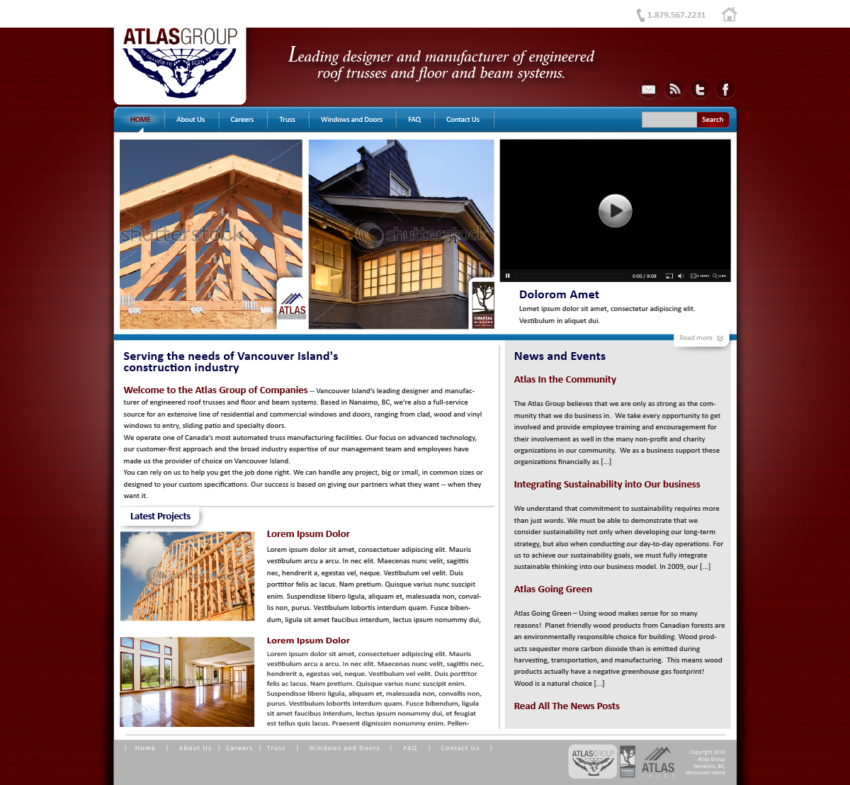Web Page Design by zesthar - Entry No. 79 in the Web Page Design Contest The Atlas Group Website.