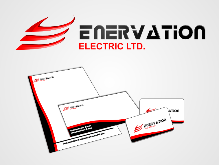 Business Card Design by monza - Entry No. 71 in the Business Card Design Contest Enervation Logo Design.