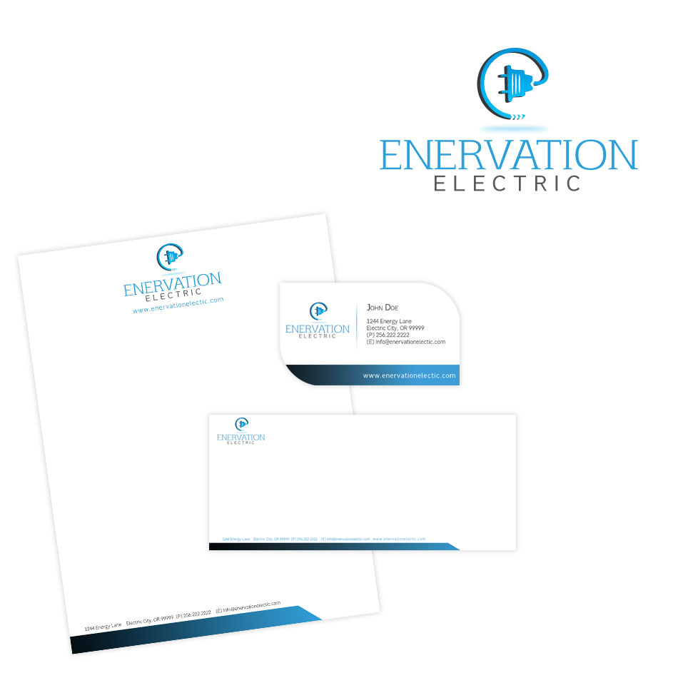 Business Card Design by keekee360 - Entry No. 72 in the Business Card Design Contest Enervation Logo Design.